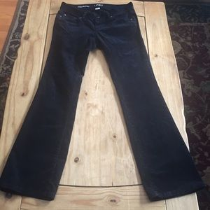 Loft black corduroys;  modern boot cut;  size 0P
